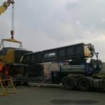 Перевозка зерноуборочного комбайна Agco Challenger 648 с жаткой