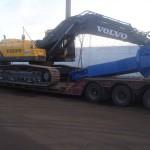 Перевозка экскаватора Vovlo EC360 с установленными гидроножницами Arden