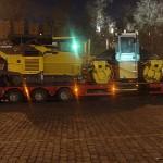 Перевозка асфальтоукладчика Volvo ABG5820 и катка Volvo DD85 на одном трале