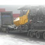 Перевозка негабаритного асфальтоукладчика Volvo ABG8820 в габарите