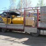 Перевозка асфальтоукладчика Volvo ABG5820